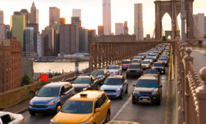 embouteillage sur le pont de Brooklyn
