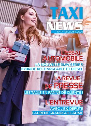 couverture magazine Taxi News pour la période de noël