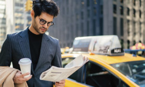 client en attente d'un taxi